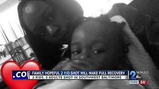 Family hopeful 2 y/o shot will make full recovery