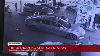 Triple shooting at BP gas station