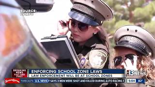Police watching school zones on first day - Video