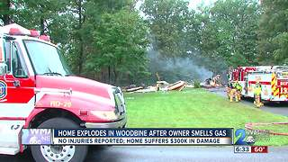 Home Explodes in Woodbine After Owner Smells Gas
