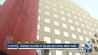 Company with Colorado ties caught in controversy over sale of fake social media accounts - Video