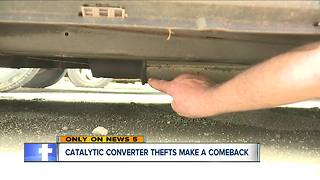 Catalytic converter thefts make a comeback - Video