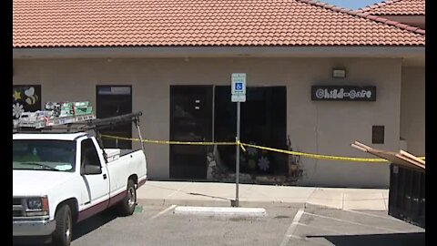 Car crashed into a building in Henderson