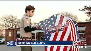 Teen creates unique way to respectfully dispose of American flags - Video