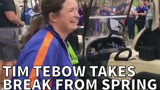Tim Tebow Takes Break From Spring Training To Do The Incredible
