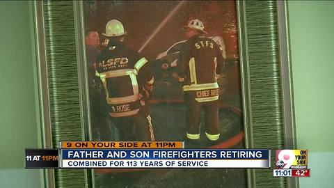 Father and son firefighters celebrate retirement