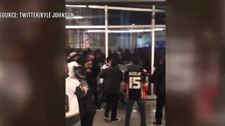Fight breaks out at Vegas Golden Knights game - Video