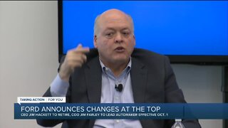 Ford announces changes at the top