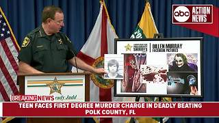 Teen faces first degree murder charge in deadly beating | Press Conference - Video