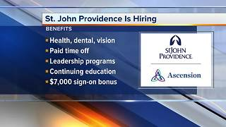 Workers Wanted: St. John Providence is hiring - Video