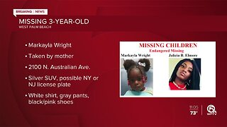 Markayla Wright: Police searching for missing, endangered 3-year-old in West Palm Beach