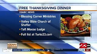 Thanksgiving Day News: Free dinners and Microwave Turkey