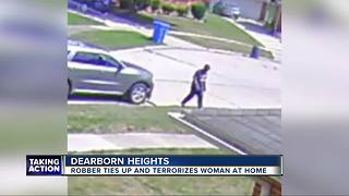 Police search for man who tied up, robbed metro Detroit woman in her own home - Video