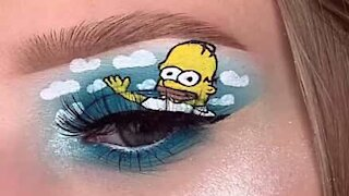 Make up artist inspired by 'The Simpsons'