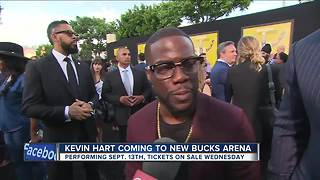 Kevin Hart schedules show at new Milwaukee Bucks arena this Fall - Video