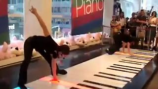 Piano Show Performed Through Dance - Video