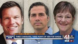 Three Gov. candidates, three points of view for Kansas