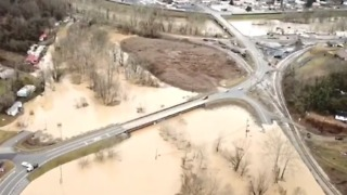 Aerial Video Shows Widespread Bell County, Kentucky, Flooding - Video