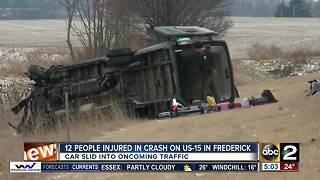 12 people injured in crash on US-15 in Frederick - Video