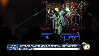 USS Midway Freedom Concert kicks off Memorial Day weekend