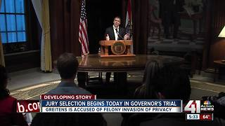 Jury selection for Missouri Gov. Eric Greitens' trial begins - Video