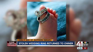 Stolen wedding rings returned to Kansas City man