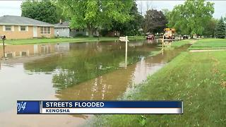Flash flooding causing issues in Kenosha County - Video