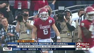 NFL Draft: Baker Mayfield drafted number one overall by Cleveland Browns - Video