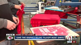 "Game Time Graphics selling ""Playoff Mode"" shirts"