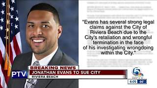 Jonathan Evans to sue the city of Riviera Beach - Video