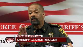 Milwaukee County Sheriff David Clarke resigns - Video