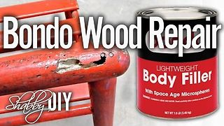 How to repair damaged wood using bondo filler - Video