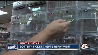Lottery ticket thief to repay more than $21,000 to Connersville store