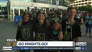 Vegas Golden Knights fans strut fashions before first game