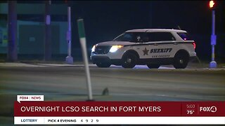 Lee County Sheriff's Office setup perimeter in Fort Myers