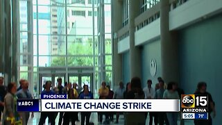 Climate change strike held in downtown Phoenix
