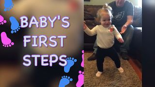 Cute Compilation Of Babies Taking Their First Steps  - Video