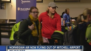New airline begins service at Mitchell Airport - Video