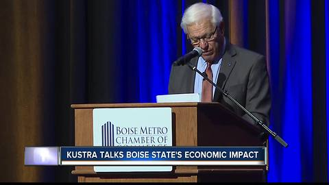 Kustra talks Boise State's economic impact