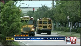 new push aimed at drivers who don't stop for buses