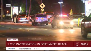 LCSO investigation on Fort Myers Beach
