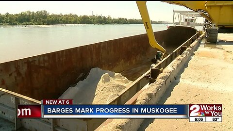 Barges mark progress in Muskogee