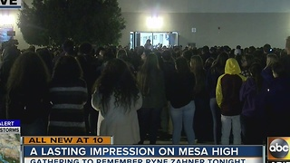 Mesa High School holds vigil for slain teacher - Video