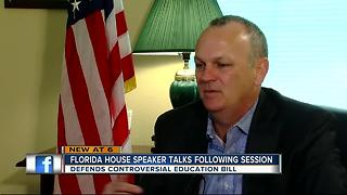 FL House Speaker talks following session - Video