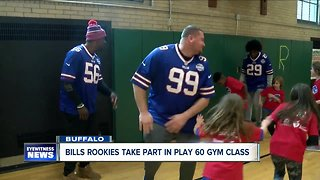 Bills rookies take part in Play 60 gym class
