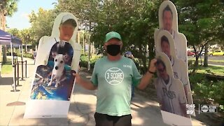 Rays fans excited to pick-up their cutouts from Tropicana Field