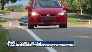 Suspected driver in deadly hit and run found