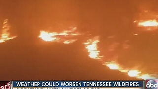 Weather could worsen Tennessee wildfires - Video