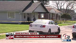 Death investigation after body found inside home Indy's southeast side - Video