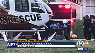 Toddler struck by vehicle in Port St. Lucie - Video